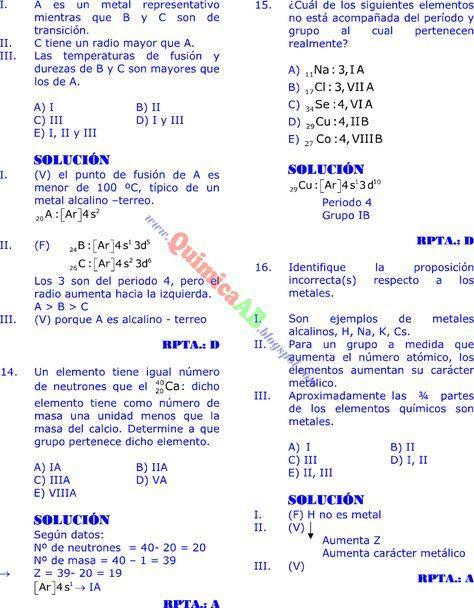 tabla peridica problemas resueltos tipo examen de ingreso a la universidad qumica paso a paso - Tabla Periodica De Los Elementos Quimicos Universitaria