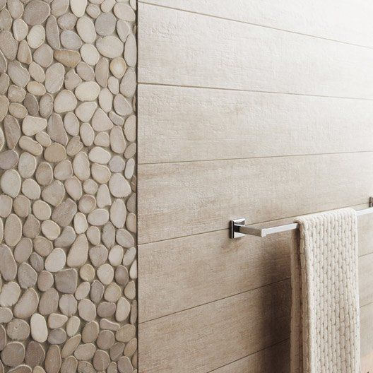 Carrelage sol et mur beige taiga x cm for Catalogue salle de bain leroy merlin