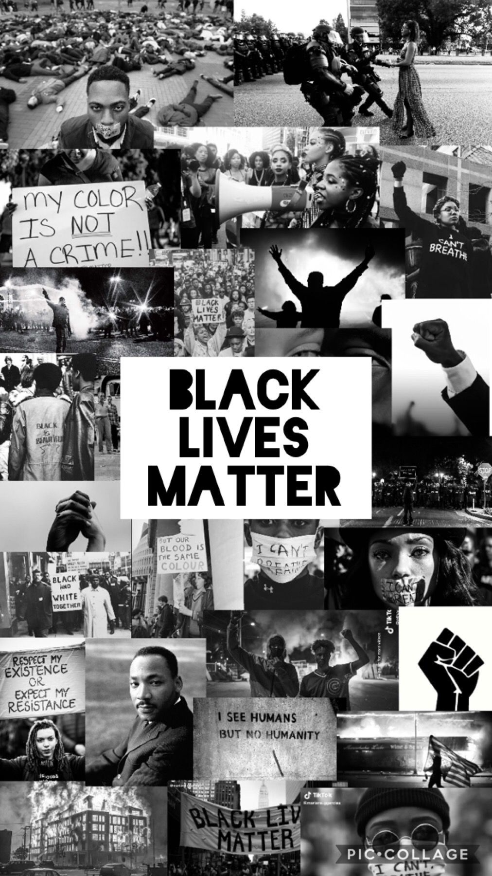 BLM wallpaper in 2020 Black and white picture wall