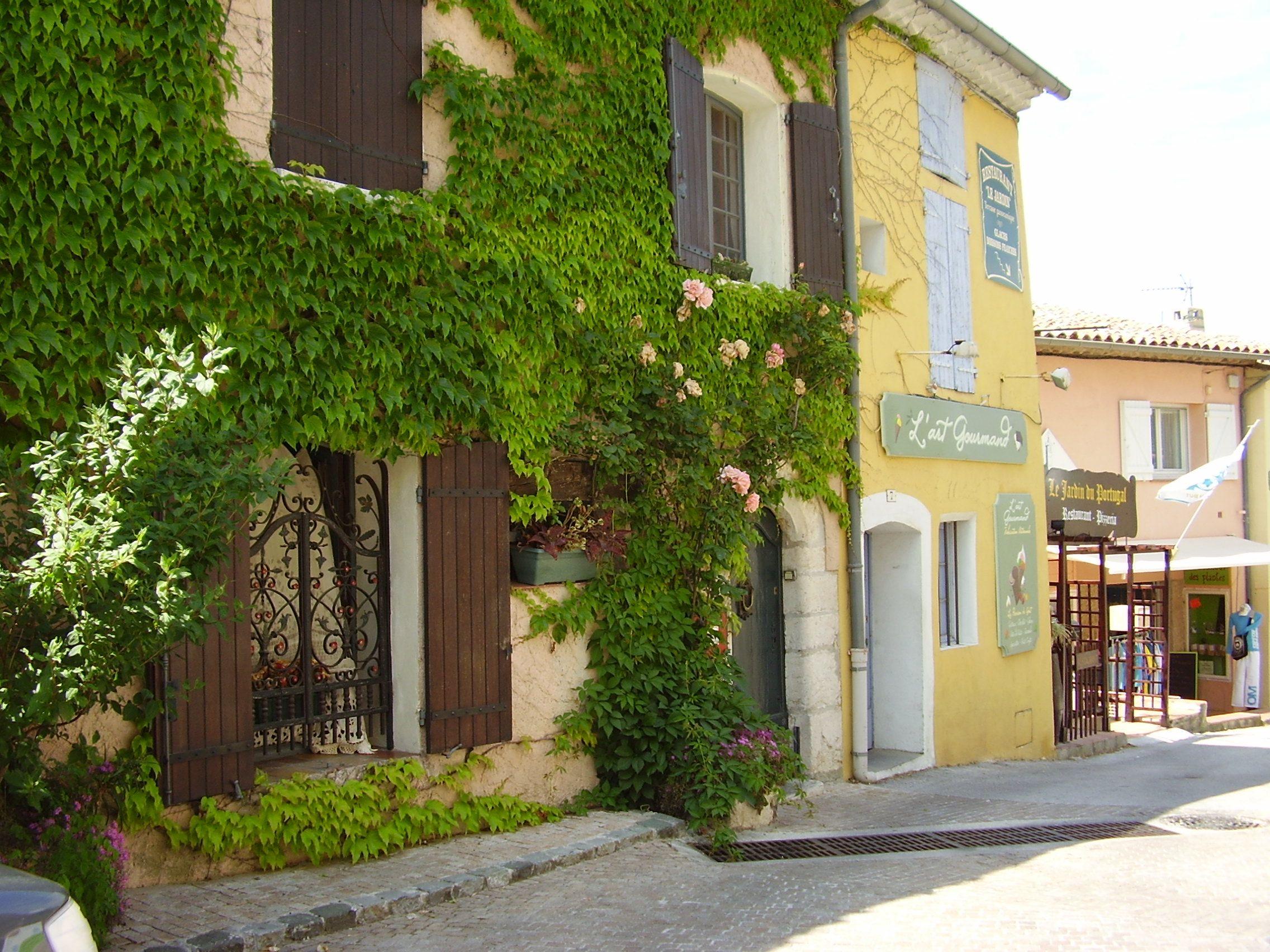 Le Castellet France A Medieval Village Built On A Steep Hill Side
