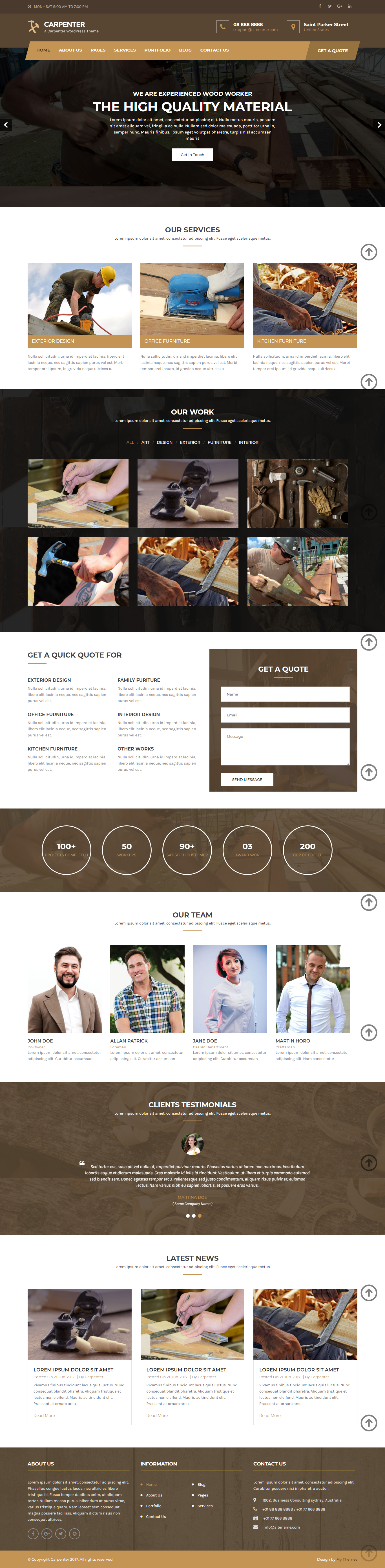 Carpenter WordPress Theme for construction companies
