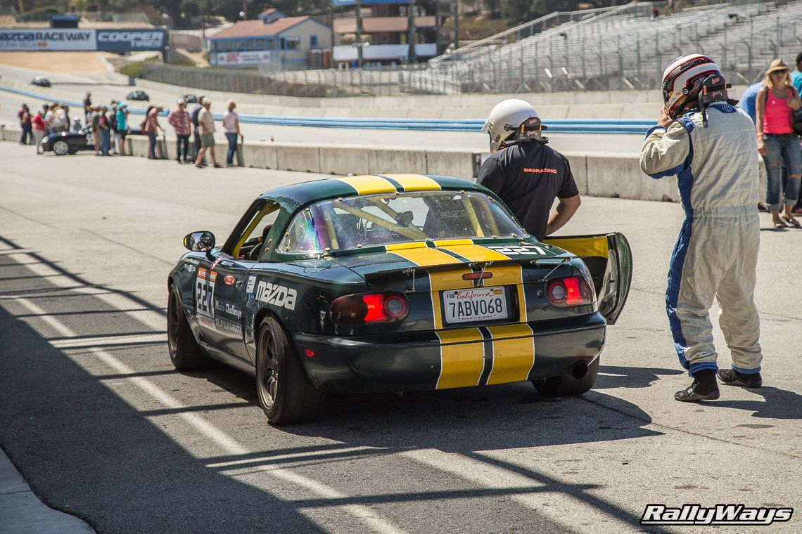 The Mazda Miata is the number one car raced around the