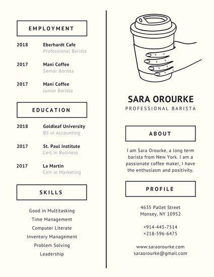 Ivory Coffee Minimalist Resume personal presentation Pinterest - resume presentation