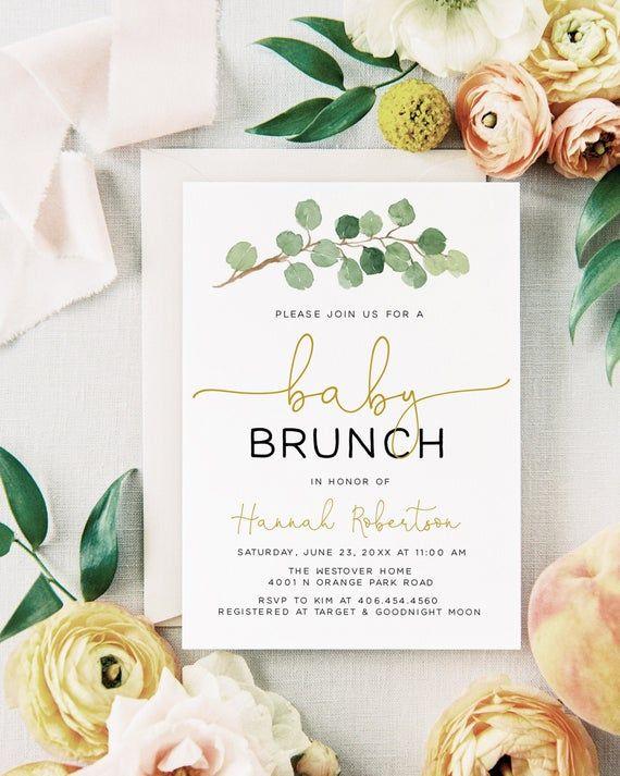 Printable Baby Brunch Invitation, Baby Shower Brunch Invitation, Baby Brunch Invitation, Baby Shower Brunch Invites, Baby Shower Invitation