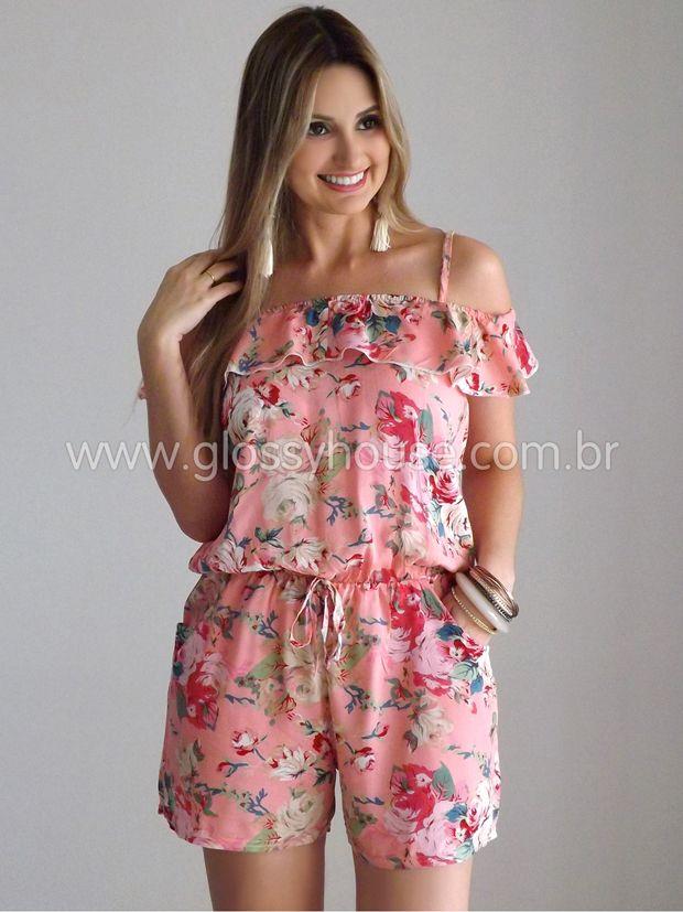 4290e9a84a9e76 macaquinho-viscose-rosa-1 | Vestidos chic | Macacão, Macacão casual ...