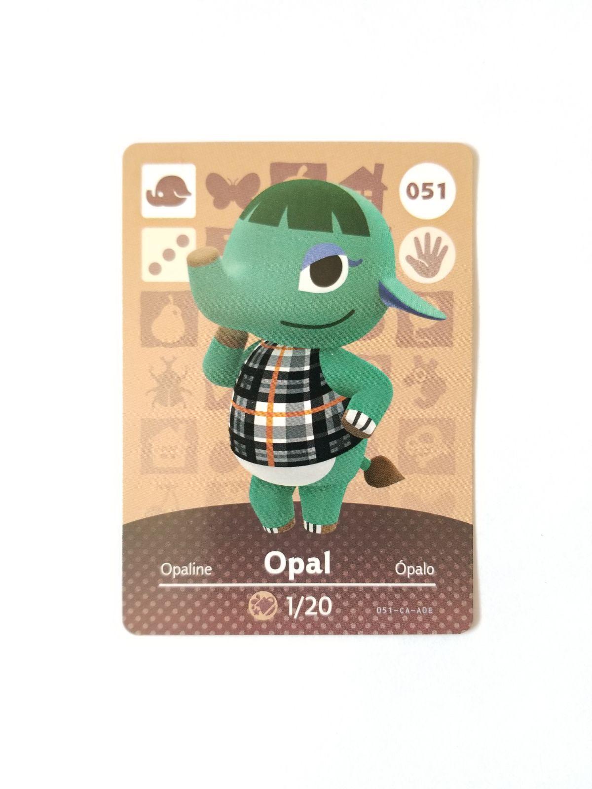 Animal Crossing Amiibo Card Opal 51 on Mercari in 2020