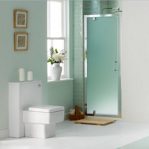 Modern Bathroom With Frosted Glass Shower Doors  Home Doors Best Frosted Glass Interior Bathroom Doors Design Decoration