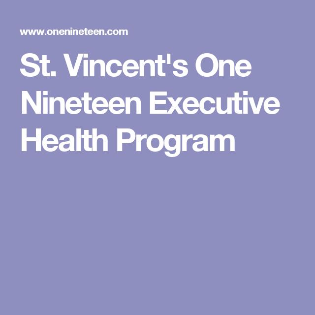 St. Vincent's One Nineteen Executive Health Program