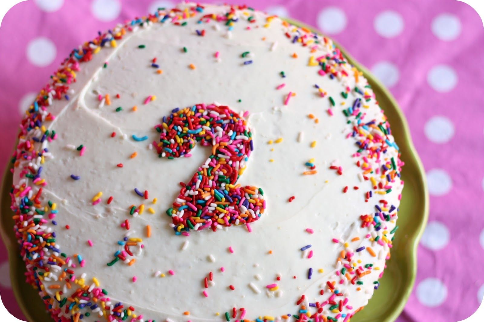 Use A Cookie Cutter To Make Fun Shape Number With Sprinkles Simple Homemade Birthday Cake