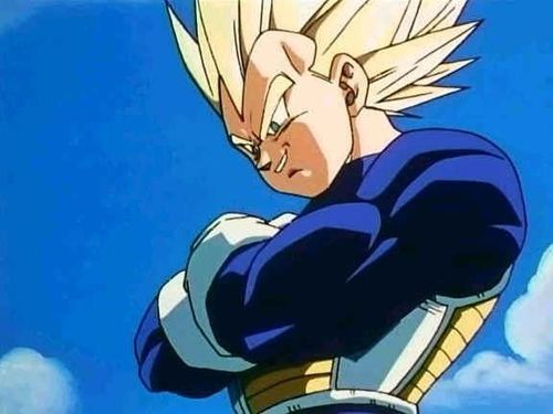 Looking down on all of these peasants like ants beneath your feet. #princevegeta #dbz