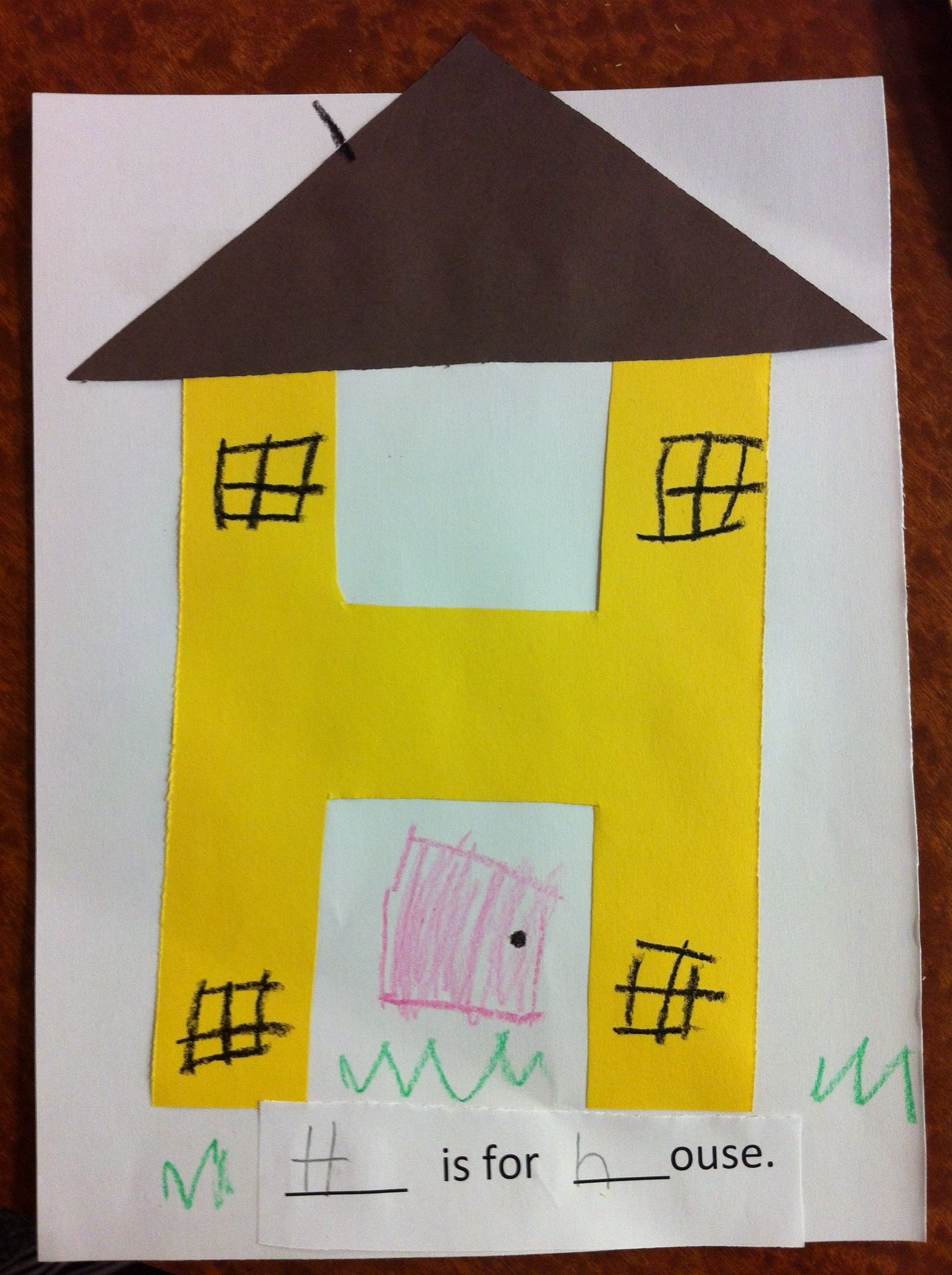 H Is For House Letter H Pre K Craft