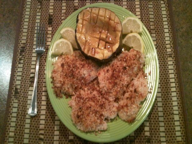 Got this one from my mom! I usually use chipotle panko breadcrumbs...Panko Crusted Tilapia