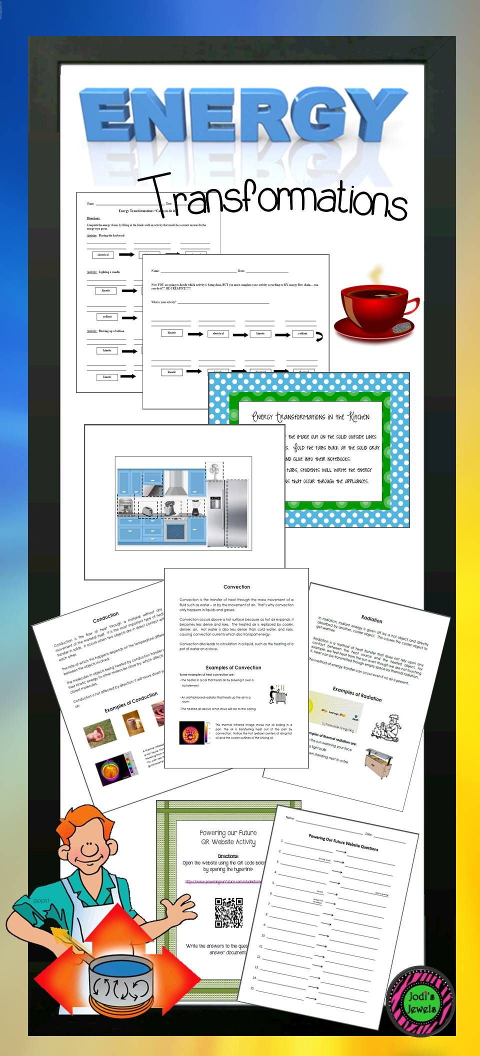 worksheet Convection Conduction Radiation Worksheet energy transformation activities including convection conduction and radiation worksheets printables interactive journal