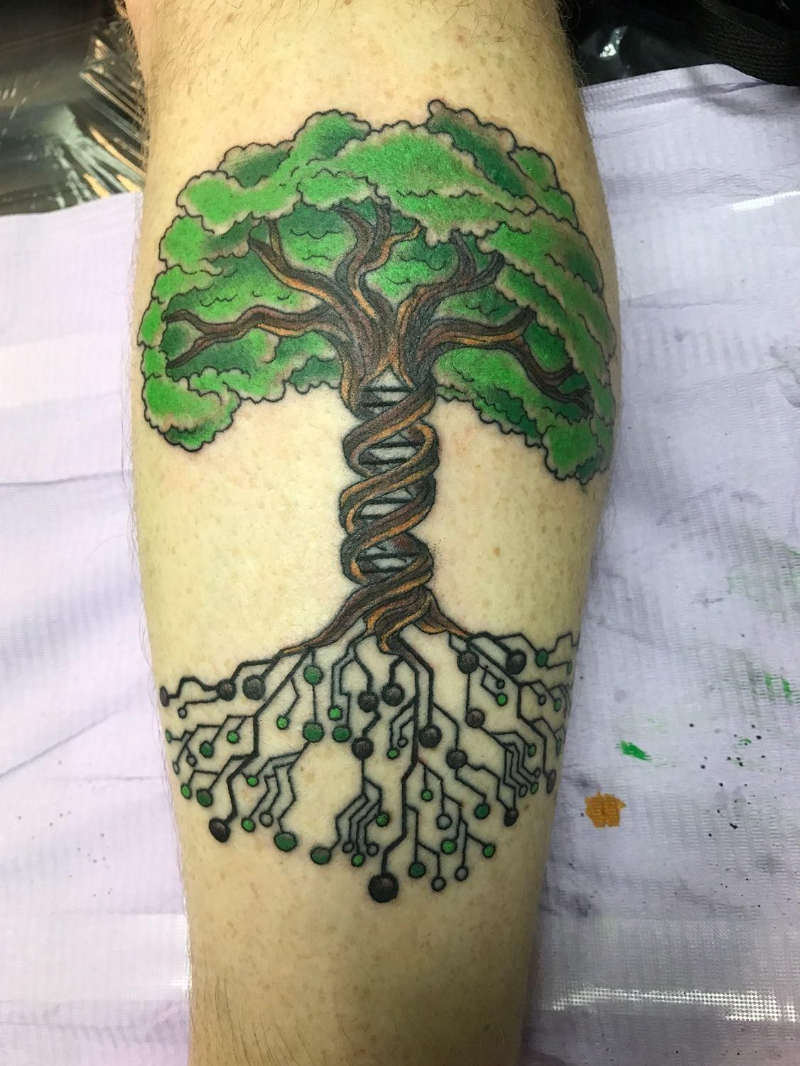 Tree of Life and Science by Dale the Nail Texas Body Art Houston ...