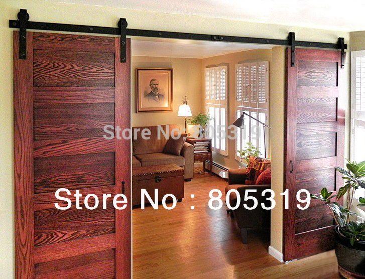 doble corrediza puerta de granero de servicio pesado moderno madera correderas herrajes para puertas en puertas