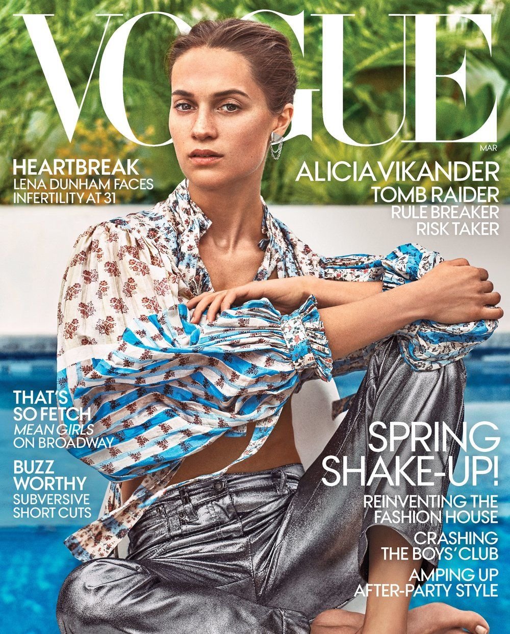 Alicia Vikander Covers The March 2018 Issue Of Vogue US