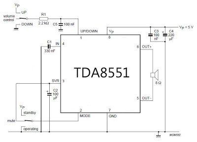 power amplifier with digital volume control circuit diagram rh pinterest com remote volume control circuit diagram remote volume control circuit diagram