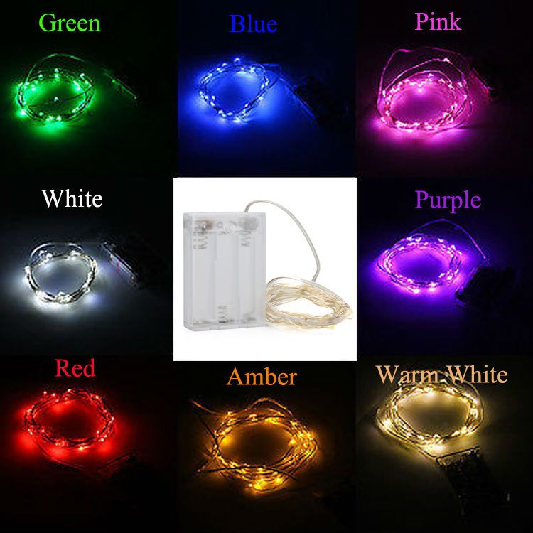 Aa battery operated 33ft 10m 100 led christmas holiday wedding aa battery operated 33ft 10m 100 led christmas holiday wedding party decoration festi led copper wire mozeypictures Gallery