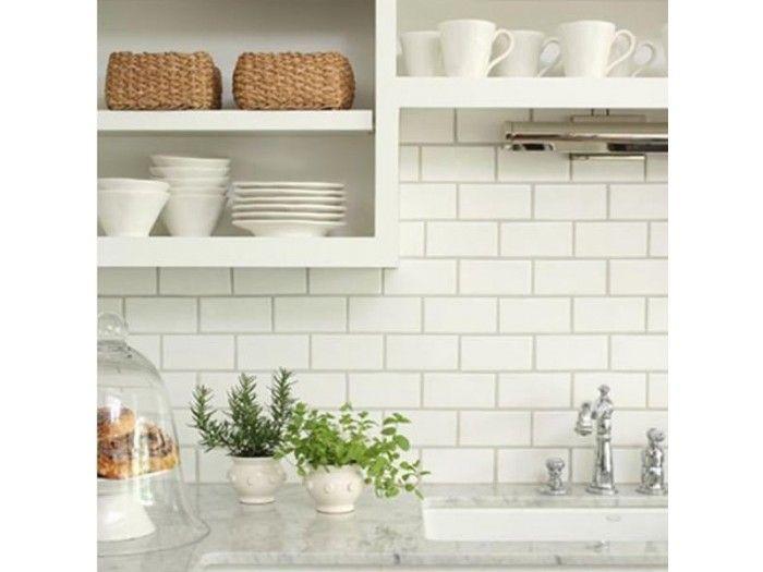 Flat White Matt Subway Tile 75x150mm Wall Tiles Kitchen