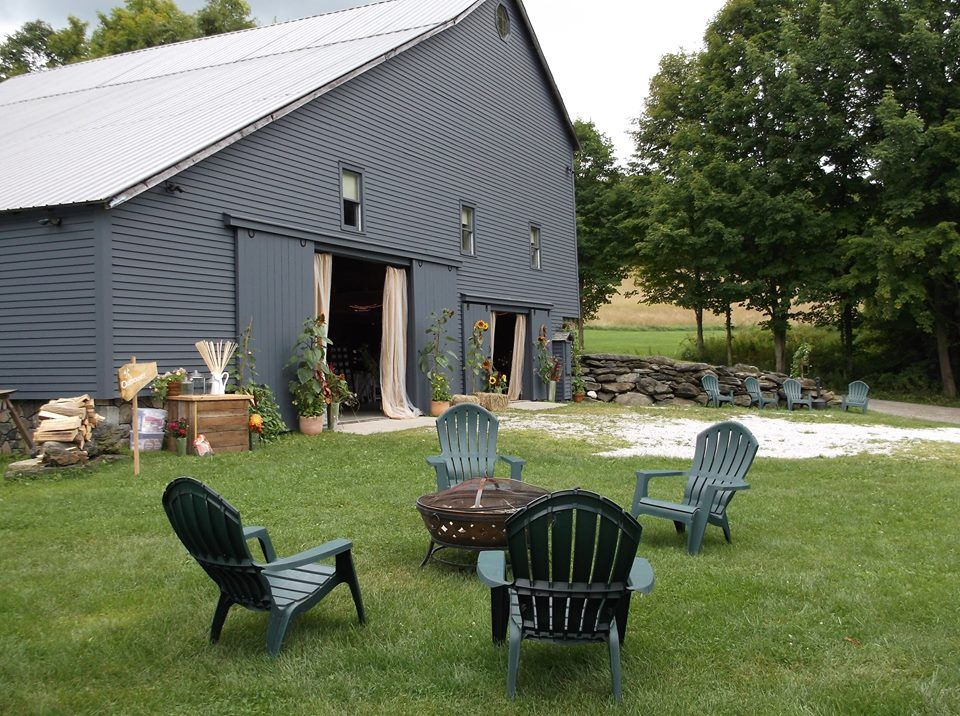 Here it is! Our restored barn venue- the Old Gray Barn- in
