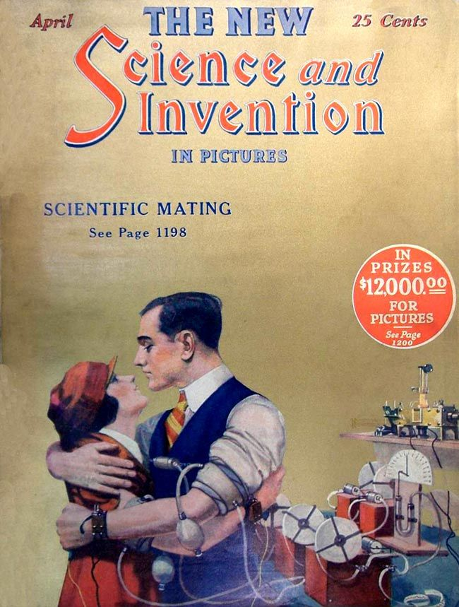 Science and Invention magazine cover, 1924