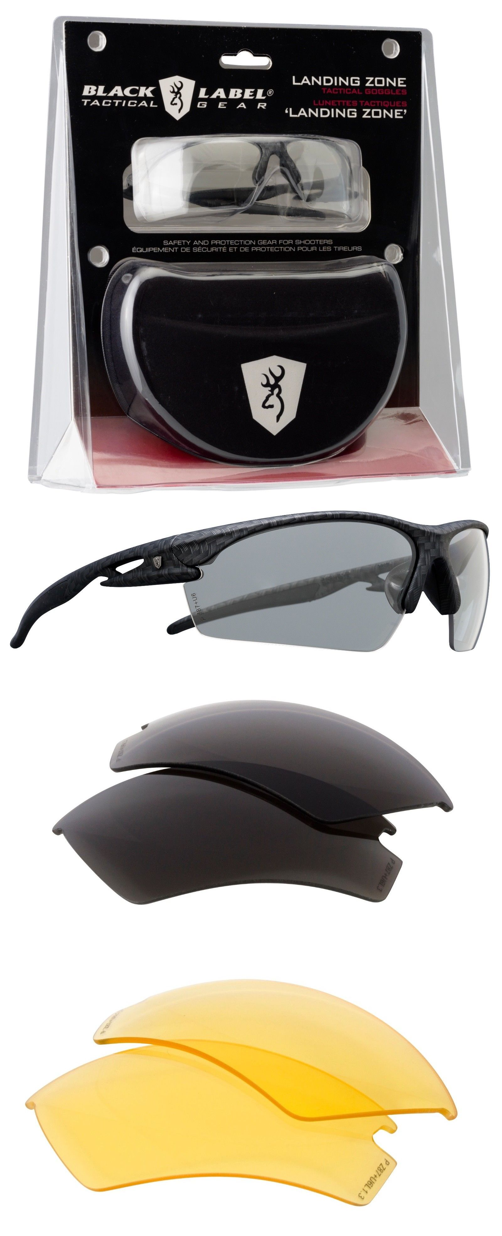 f2ec2f3cddc Shooting and Safety Glasses 151549  Browning Black Label Landing Zone  Glasses Tactical Safety Interchangable Lenses