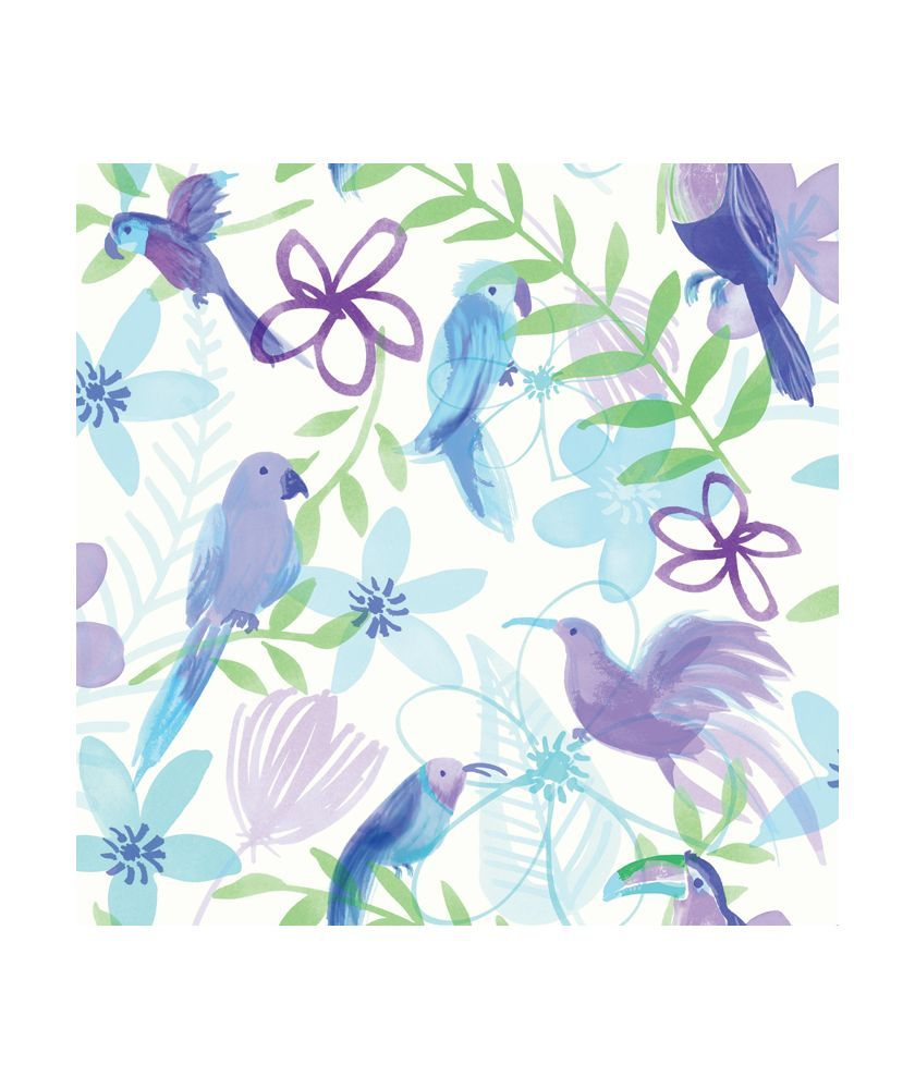 Buy Polly Parrot Wallpaper Purple At Argoscouk Your Online
