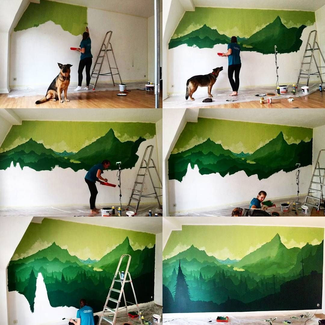 gef llt 3 mal 1 kommentare daria dariamars auf instagram malprojekt mit schmackes wald. Black Bedroom Furniture Sets. Home Design Ideas