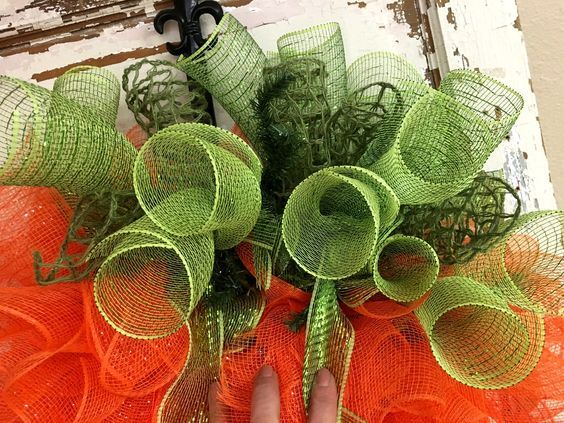 Photo of Deco Mesh Carrot How To