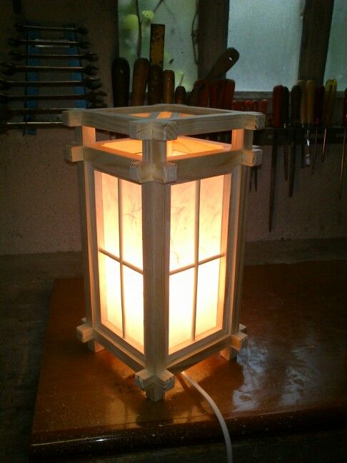 Lampara japonesa de ideas decoraci n pinterest woodworking lights - Lamparas asiaticas ...