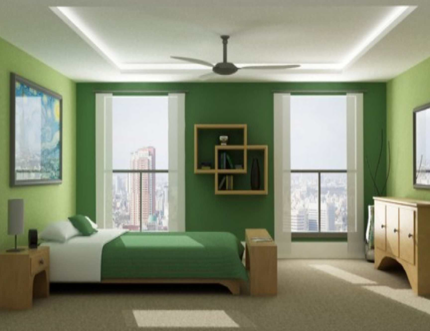 Attractive Inspiration Bedroom Sweet False Ceiling Lights With Fans On White Plafonds  As Well As Modern Low