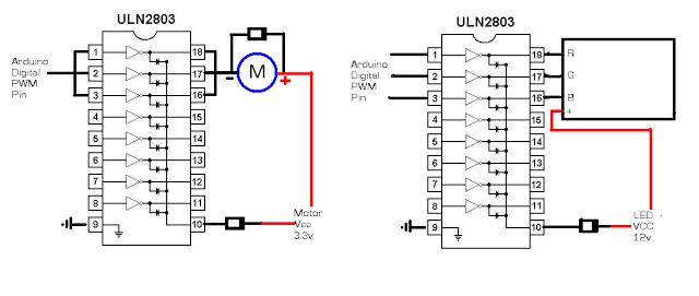 digitalduino  arduino   uln2803