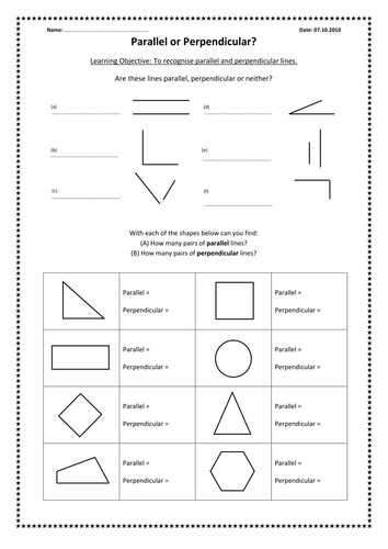 Printables Parallel And Perpendicular Lines Worksheet parallel and perpendicular lines worksheet davezan 1000 images about on pinterest portal asperger worksheet