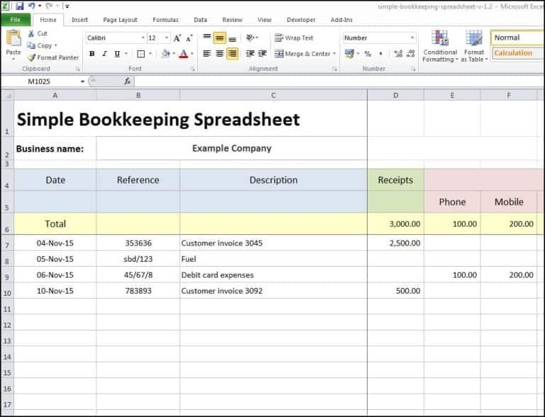 Excel Bookkeeping Worksheet Bookkeeping Templates Excel Spreadsheets Templates Spreadsheet Business