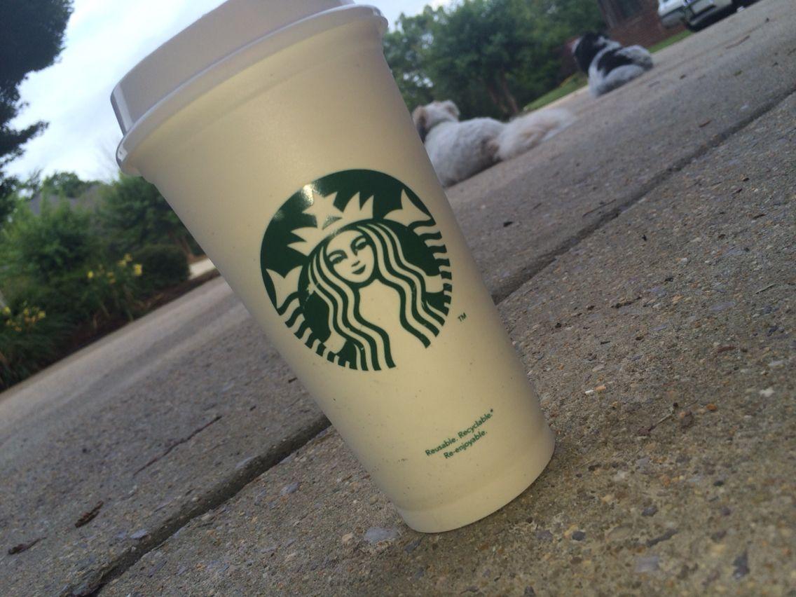 Morning coffee starbucks hot coffee starbucks double