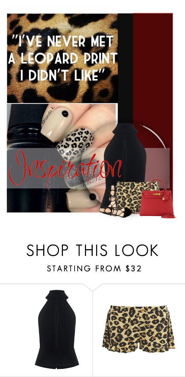 """""""Leopard Love"""" by cindycook10 ❤ liked on Polyvore featuring C/MEO COLLECTIVE, MINKPINK, Marc Fisher and Hermès"""