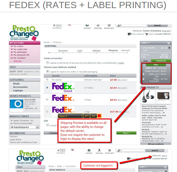 Prestashop Module For Fedex Rates Label Printing You Can Visit This Module Here Http Www Prestadesigner Com Shop Fedex Printing Labels Labels Prints