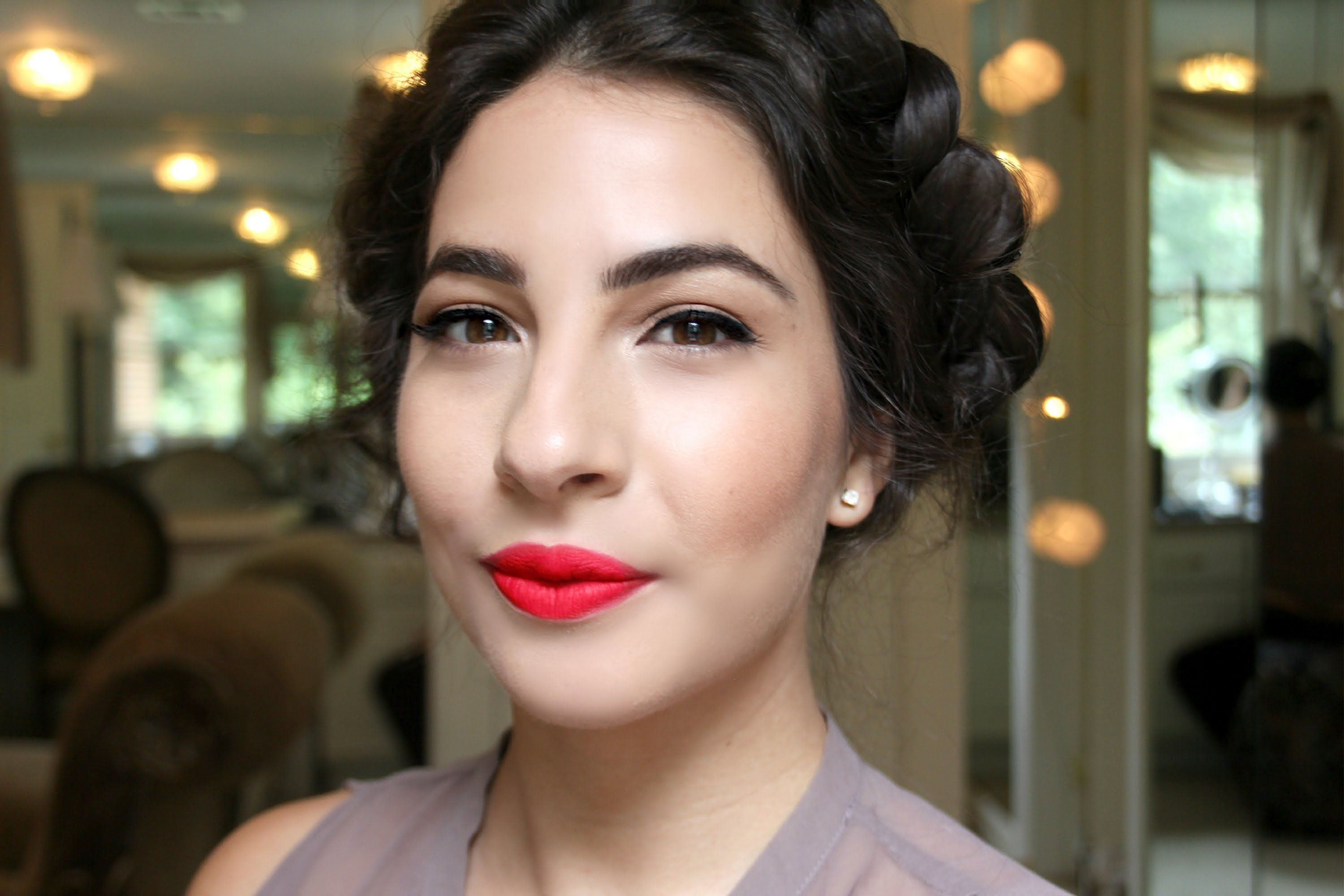 Easy Red Lips Makeup Tutorial (With images) Lip makeup