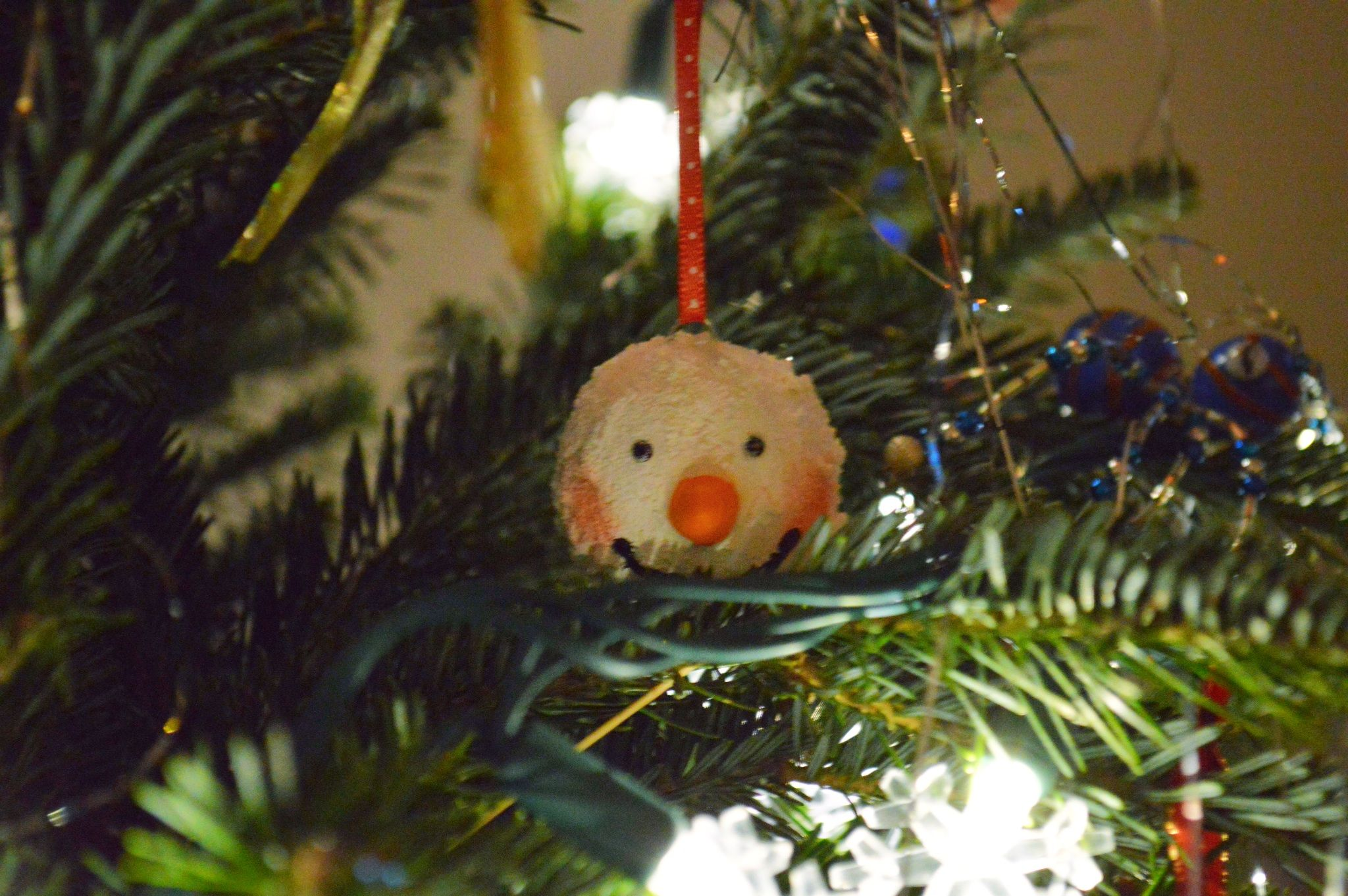 Snowman ball ornament we made this year