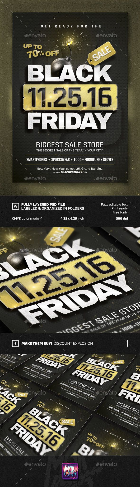 Black Friday flyer Template | Volantes