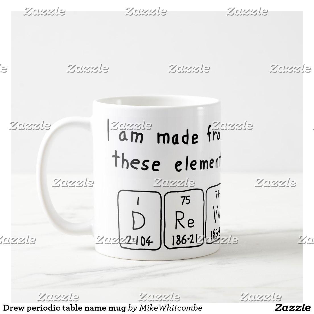 Drew periodic table name mug periodic table drew periodic table name mug urtaz Image collections