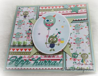 Min hobbyverden: Bursdagskort til en kul liten gutt