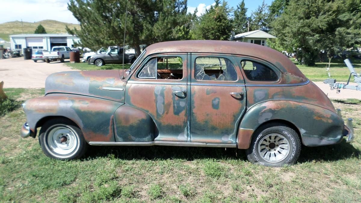 1948 Chevy Stylemaster 4dr, engine turns over by hand. no title ...