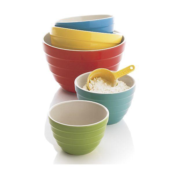 5 Piece Parker Bowl Set Crate Barrel Colorful Bowls Bowl Set Bowl