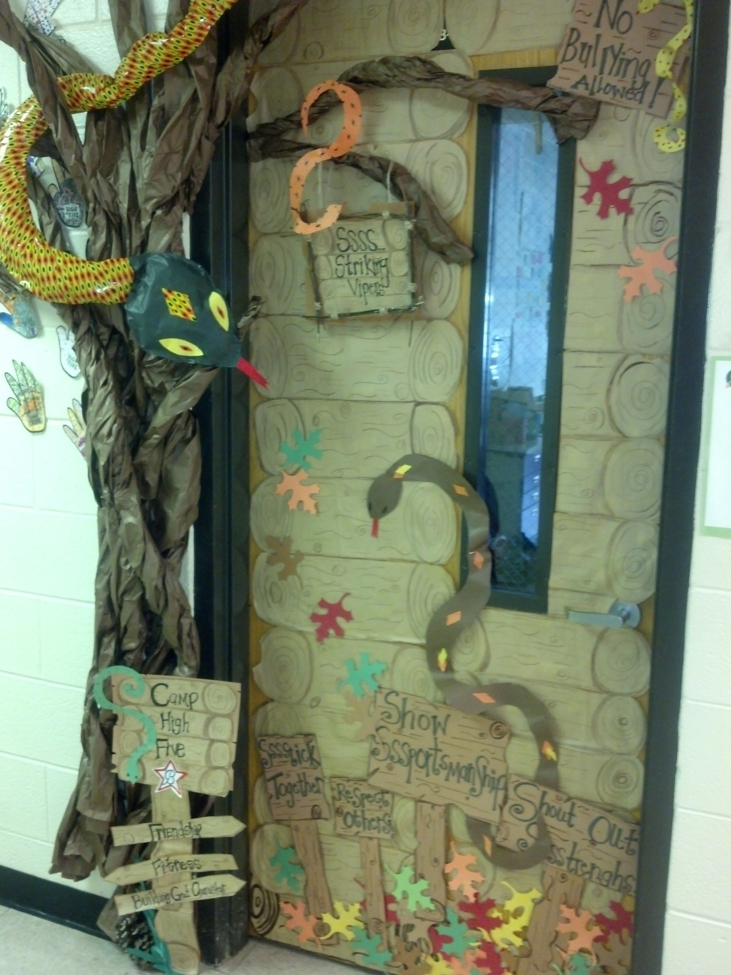 Camping Classroom Decoration ~ My daughter s th grade teacher asked me to decorate her