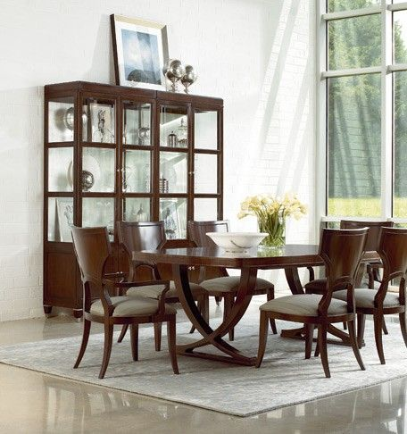 Double Pedestal Dining Table From The Art Deco Inspired U0027Spellboundu0027  Collection From Thomasville.