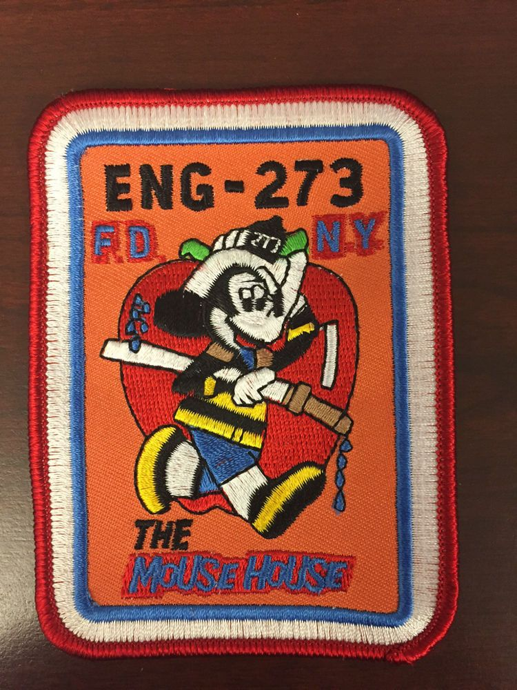 FDNY New York City Fire Dept ENG ENGINE 273 PATCH THE MOUSE HOUSE MICKEY MOUSE