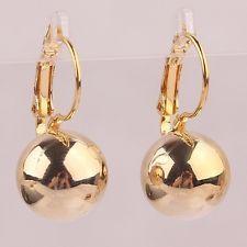 18k Yellow Gold Filled Lever Back Ball Drop Dangle Earrings Uk Er