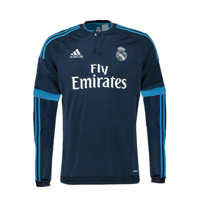 427b0dce672 Real Madrid 2015 16 3RD Away Men Long Sleeve Shirt Personalized ...