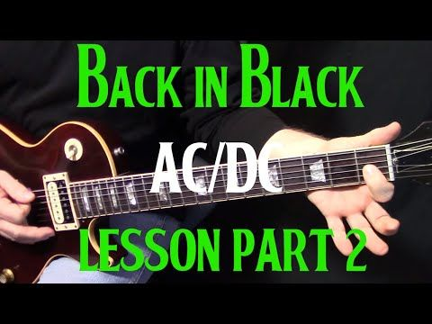 back in black how to play guitar
